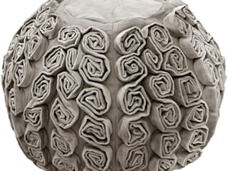 Rosa Silver Grey Velvet Pouffe:   by Ragged Rose