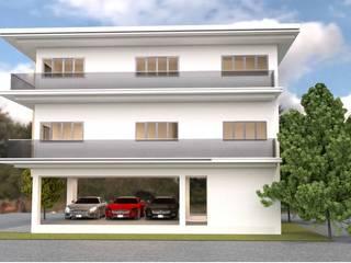 ออกแบบบ้าน 3 ชั้น style modern โดย mayartstyle คันทรี่