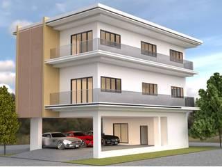 ออกแบบบ้าน 3 ชั้น style modern โดย mayartstyle โมเดิร์น