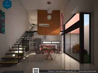 Loft Xiomarc Salones eclécticos de Trubmar Ecléctico