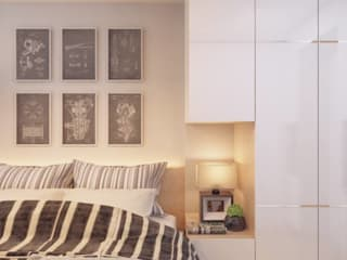 3ส่วน 3 Style ในการออกแบบลงไปในพื้นที่:   by บริษัทเกรี้ยวกราดดีไซน์จำกัด