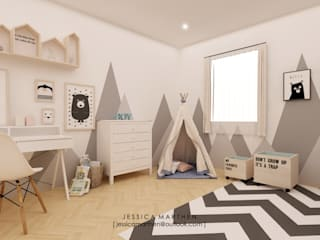 JESSICA DESIGN STUDIO Scandinavian style nursery/kids room