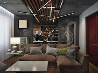 Industrial style living room by Reroom Industrial