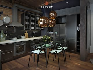 Industrial style kitchen by Reroom Industrial