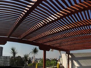 Balcones y terrazas de estilo rústico de Materia Viva S.A. de C.V. Rústico
