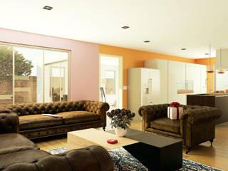 Sala - Cocina:  de estilo  por A11 Estudio | Arquitectura | Visualizacion | Construccion | Interiorismo