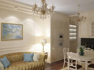 Salones de estilo clásico de МайАрт: ремонт и дизайн помещений Clásico