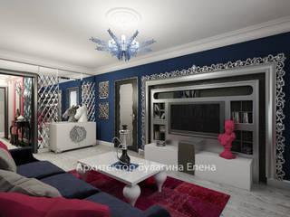 Living room by Архитектурное Бюро 'Капитель', Eclectic