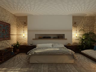 ICONIC DESIGN STUDIO Eclectic style bedroom