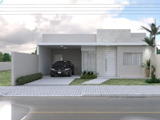 Projeto Arquitetônico Residencial por Aline Bassani Arquitetura Moderno