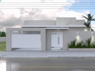 Projeto Arquitetônico Residencial Casas modernas por Aline Bassani Arquitetura Moderno