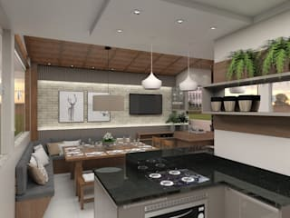 Projeto de Interiores Cozinhas modernas por Aline Bassani Arquitetura Moderno