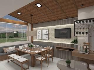 Projeto de Interiores Varandas, alpendres e terraços rústicos por Aline Bassani Arquitetura Rústico