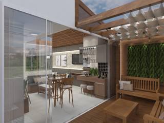 Projeto de Interiores Garagens e edículas rústicas por Aline Bassani Arquitetura Rústico