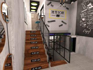 Gimnasios en casa de estilo industrial por TARC İÇ MİMARLIK RESTORASYON TİC. LTD. ŞTİ.