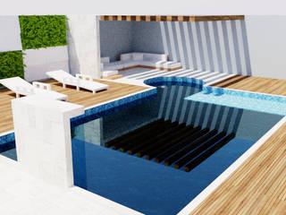 Estudo residencia alto padrão - 250 m² sobrado.: Casas familiares  por FT Engenharia e Arquitetura,Moderno