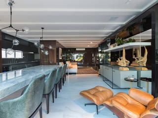 Apartamento RBN: Salas de estar  por Thiago Mondini Arquitetura,Moderno