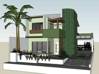 Casa dos Cocais - Reforma de Residencia - São Luís, MA Casas tropicais por Oca Bio Arquitetura e Design Tropical