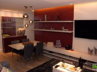 Salas de estar modernas por Estudio Duo Arquitetura e Design Moderno