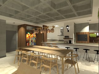 Apartamento Menta Salas de estar ecléticas por Quintal Arquitetura Eclético