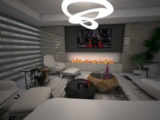 Residencia Valle Real: Salas de estilo  por LUCCA STUDIO INTERIORISMO,