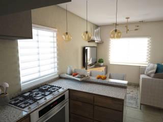 Casa muestra: Cocinas equipadas de estilo  por LUCCA STUDIO INTERIORISMO,