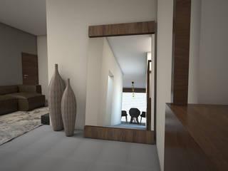 departamento muestra 2020: Pasillos y recibidores de estilo  por LUCCA STUDIO INTERIORISMO,