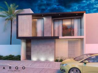 Casa Hábitat: Casas de estilo moderno por ARQO Estudio Creativo