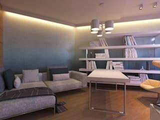 LUXEMBURG Minimalist study/office Wood Multicolored