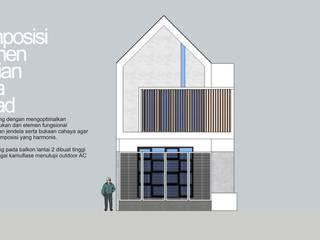 Fasad satu buah hunian:   by HRW architect