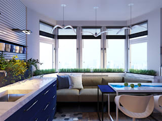 LUXEMBURG Eclectic style kitchen Blue