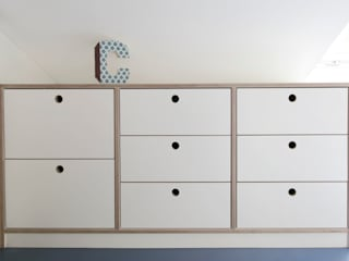 Kinderzimmermöblierung: modern  von Monika Schäfers Innenarchitektur,Modern