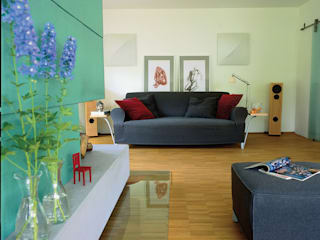 Wohnhaus aus den 1980ern Moderne Wohnzimmer von Monika Schäfers Innenarchitektur Modern