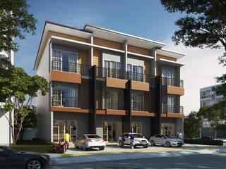 ออกแบบอาคารพาณิชย์ 3 ชั้น:  อาคารสำนักงาน ร้านค้า by T.A.S.Design Co.,Ltd.