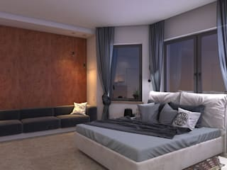 LUXEMBURG Minimalist bedroom Engineered Wood Orange