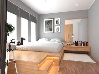งานทำแบบ 3D ห้องนอน ของคุณไอร์ โดย Ms Interiors Design