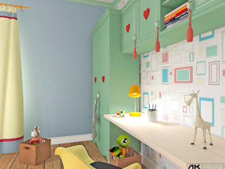 дизайнер Алина Куракова Girls Bedroom Multicolored