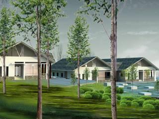 Viện tĩnh tâm - Thanh cao - Vĩnh phúc:  Nhà cho nhiều gia đình by Công ty cổ phần Kiến trúc và xây dựng AST