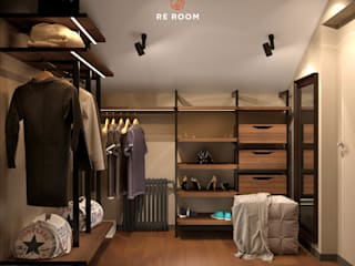 Eclectic style dressing rooms by Reroom Eclectic