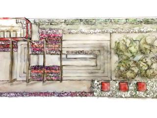 Iconic London Roof Terrace - RHS Chelsea Flower Show Concept by Aralia Сучасний