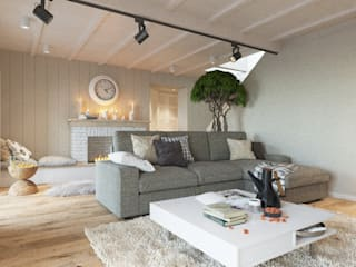 Scandinavian style living room by LUXEMBURG Scandinavian