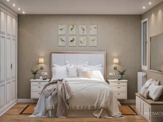 Dormitorio Matrimonio Zaragoza: Dormitorios de estilo  de Phosmou Estudio, S.L.