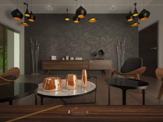 Salas multimídia modernas por Visualización 3D Moderno