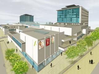 "PROYECTO CENTRO COMERCIAL ""MALL CAEP"" de [ER+] Arquitectura y Construcción Moderno"