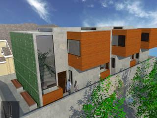 Casas multifamiliares de estilo  por ..arquitecturería taller.., Minimalista