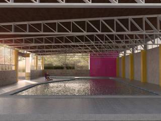 Piscinas de jardín de estilo  por ..arquitecturería taller.., Rústico