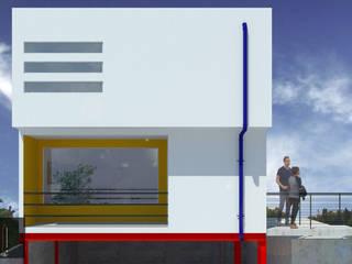 Casas unifamiliares de estilo  por ..arquitecturería taller.., Minimalista
