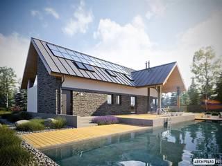 Nikolas II G2 ENERGO PLUS - nowoczesny dom, który ma wszystko! Nowoczesne domy od Pracownia Projektowa ARCHIPELAG Nowoczesny