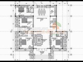 Bản vẽ phương án mặt bằng nội thất:  Biệt thự by Công ty TNHH TKXD Nhà Đẹp Mới