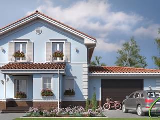 Maisons rurales par Компания архитекторов Латышевых 'Мечты сбываются' Rural